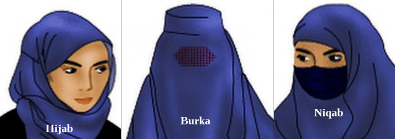 hijab, nijab, or burka