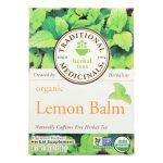 Traditional Medicinals Organic Herbal Tea – Lemon Balm Lemon Bal Og2 – Case of 6 – 16 Bags-