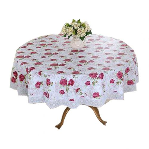 Flower Pattern Round Table Cloth/Waterproof Table Cloth/Oil-proof Tablecloth