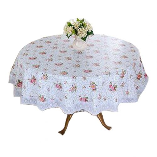 Flower Pattern Tablecloth/Waterproof Round Table Cloth/High-quality