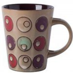 [Circle] American Style Retro Ceramic Cup Household Cup Coffee Cup Mug, Khaki [Z]