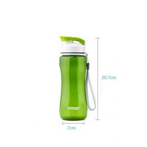 Green Water Bottle 19-ounces Water Jug with String 20.7*7CM