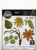 Sizzix Thinlits Dies By Tim Holtz-Funky Floral, Large