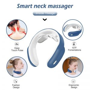 Smart Electric Neck and Shoulder Massager Pain Relief Tool Health Care Relaxation Cervical Vertebra Physiotherapy 1