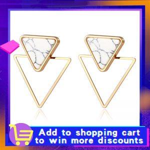 X&P New Fashion Round Dangle Drop Korean Earrings For Women Geometric Round Heart Gold Earring Wedding 2020 kolczyki Jewelry 1