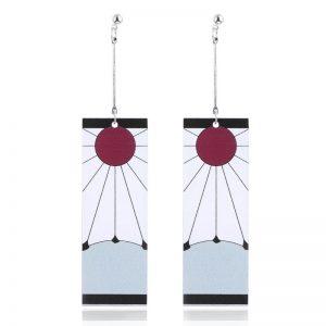 Anime Acrylic Drop Earrings Demon Slayer Kimetsu no Yaiba Blade of Ghost Earings For Women Men Cosplay Jewelry Accessories Gift
