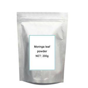 200g Natural Organic Moringa leaf powd-er green powd-er 80 mesh Free shipping