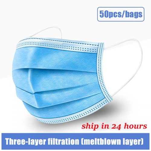 10pcs/50/100pcs mask disposable face Mouth Mask Dust-proof Three-layer Non-woven Melt Blown mask