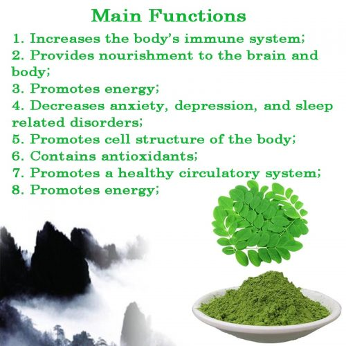 200 grams,Natural& High quality Moringa leaf Extract powder Increases the body s immune system