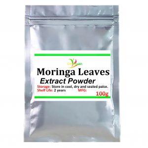 100g-1000g Moringa leaves extract can reduce blood pressure, anti-tumor, anti-aging and enhance immunity, improve sleep and memo
