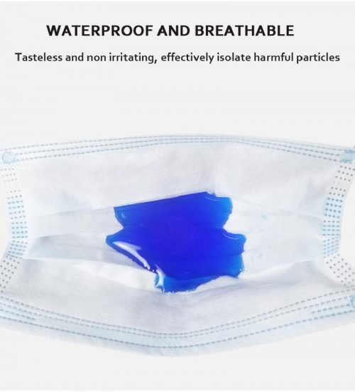 10pcs/50/100pcs mask disposable face Mouth Mask Dust-proof Three-layer Non-woven Melt Blown mask 3
