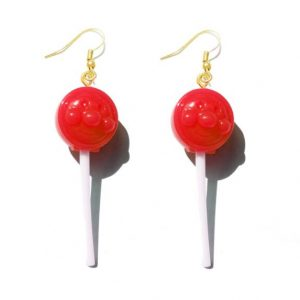 Earring For Women Resin Lollipop Drop Earrings Children Jewelry Custom Made Handmade Cute Girls Cotton Candy Gift 1