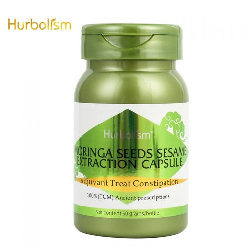 Hurbolism Moringa Seeds Sesame Extraction Capsule, Adjuvant Treat Constipation , Natural Plants Extract, No side effect, 50pcs