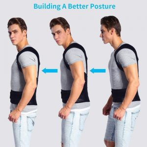 Aptoco Posture Corrector Back Posture Brace Clavicle Support Stop Slouching and Hunching Adjustable Back Trainer Unisex 1