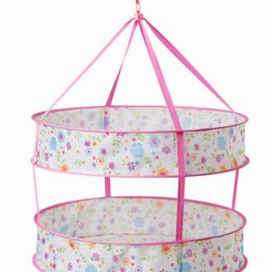 Floral Utility 2 Tier Sweater Drying Rack/Net Hanging Drying Basket 24''