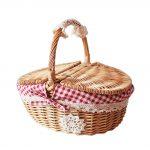 Hand-Woven Picnic Basket Little Red Riding Hood Basket Easter Basket,Large