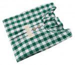 Japanese-style Cotton Long-sleeve Plaid Apron Kitchen Home Anti-Oil Smock, Green-GM-HOM668145011-ZARA04596