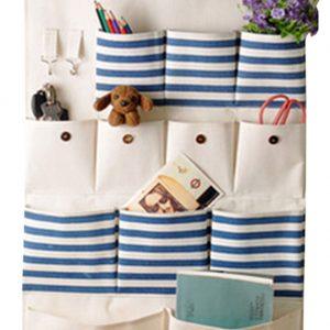 [12 Pockets-Nature] Wall Door Hanging Storage Bag