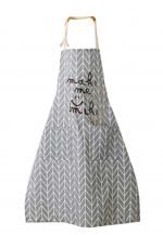 Kitchen Cotton Apron Stylish Waterproof And Oil-resistant Adult Apron #3-GY-HOM668145011-ERIC00544