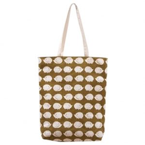 (Brown)Hedgehog Expandable Grocery Totes Shopping-bags Convenient Folding Bag