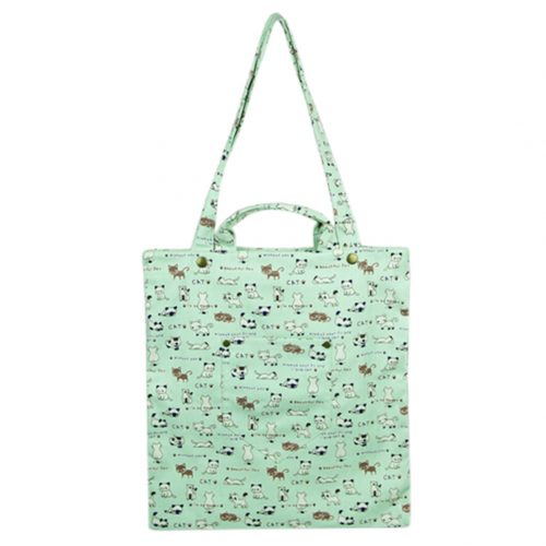 Floral Printing Fashionable Dual Purpose Reusable Shopping Bags Shoulder Bag