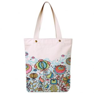 (Flowering Plant) Literary Hand Painted Canvas Bag Cloth Bags