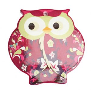 (4 PCS) Red Lovely Owl Shape Cup Mat Scald-proof Cup Tray Antiskid Place Mats
