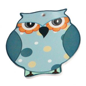 (4 PCS) Blue Antiskid Cup Mat Scald-proof Cup Tray Lovely Owl Shape Place Mats