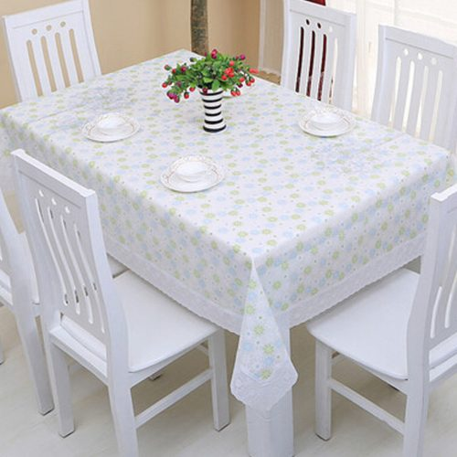 Ships from Hong Kong. Easy to clean PVC tablecloth. The plastic tablecloth's surface is vinyl with flannel backing to avoid skidding and slipping. Just wipe clean with damp cloth