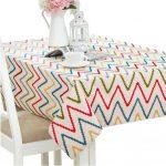 39″ X 55″ Stylish Rectangle Tablecloths Durable Tea Table Mat Placemat Table cloth Geometry #05-KE-HOM3742031-AMY05369