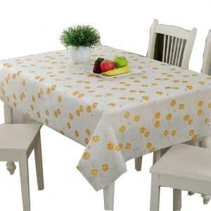 Yellow Flowers Tablecloths 60 x 80-Inch Rectangular Tablecloth