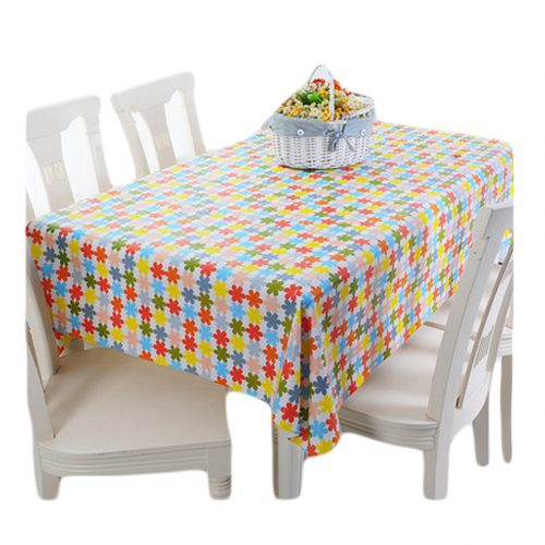Floral Hope Tablecloths 54 x 86-Inch Rectangular PVC Noble Tablecloths