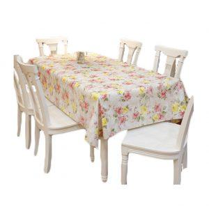 Flower Garden Tablecloths 54 x 86-Inch Rectangular PVC Noble Tablecloths