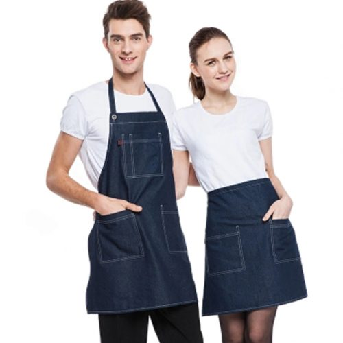 Ships from Hong Kong. This Apron is perfect for the home entertainer or adventurous gourmet. A necessity if you do not want to get food and grease stains on your clothes. A good gift for your wife and mother. Materials: jean cloth. Size: Height 77cm/ 30.3 Inch