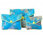 10 pieces Traditional Jewelry Storage Bag Pouch Gift Bags (Random Pattern), Light Blue-KS-HOM3743851-ALAN01174