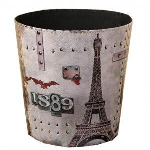 [1889 Tower]Wastebasket Paper Basket Trash Can Dustbin Garbage Bin 7.87x9.64x10.24 Inches