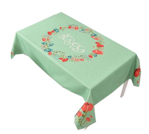 """""""Cotton Linen Beautiful Tablecloth Tea Table Cover Dust Cover Cloth 33.46""""""""x33.46"""""""" (Green)"""""""