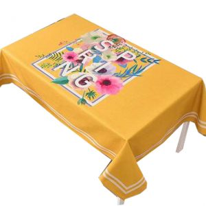 """""""Cotton Linen Beautiful Tablecloth Tea Table Cover Dust Cover Cloth 33.46""""""""x33.46"""""""" (Yellow)"""""""
