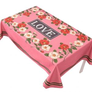 """""""Cotton Linen Beautiful Tablecloth Tea Table Cover Dust Cover Cloth 33.46""""""""x33.46"""""""" (Flower#04)"""""""