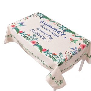 """""""Cotton Linen Beautiful Tablecloth Tea Table Cover Dust Cover Cloth 33.46""""""""x33.46"""""""" (Flower#06)"""""""