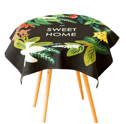 """""""Cotton Linen Beautiful Tablecloth Round Table Cover Dust Cover Cloth 33.46""""""""x33.46"""""""" (Sweet Home)"""""""
