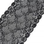 Black Lace Embroidery Fabric Trim for DIY Decorating-EM-HOM689401011-ARIEL04411