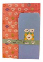 Set Of 3 Fresh Letterheads Envelopes Suit Letter Letterhead Paper Little Monkey-BC-OFF1069694-SUNNY02919