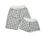 Set Of Two Good-looking Lattice Athletics Shorts/Couple Beach Pants-DS-SPO1045966-MONKEY00135