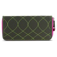 Travelon SafeID Hack-Proof Embroidered Ladies RFID Wallet – Olive/Berry-22996-420