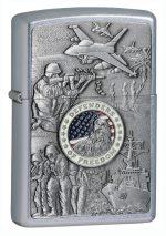 Zippo Joined Forces Emblem Street Chrome Lighter-zippo24457