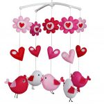 Baby Musical Mobile With Colourful Birds, Exquisite Bedtime Music Crib-BC-BAB-ONIM0497-WING-MIYA