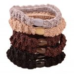 Set of 6 Elastic Hair Ties Bands Headband Scrunchie-EM-BEA11058071-ARIEL05088