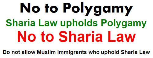 No to sharia and polygamy.JPG
