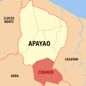 Map location of Conner in the Apayao Province